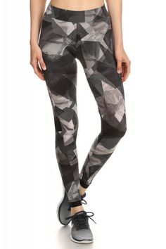 a1cc9b9bbca90 Buy for yourself this Black&gray shosport leggings at A mom's Attic. This  leggings Keeps it Shape, Flat Seams, Reduces Chafing and its Smooth Comfort