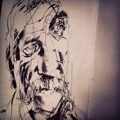 Ink. Play. Experiment. #sketchbook #ink #jasonshawnalexander