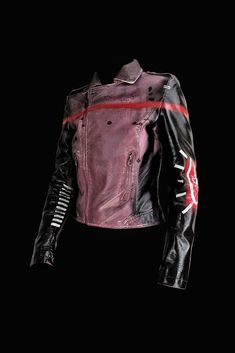 88aeef330450 Grafik – purple black Rannka hand painted jacket. Off white vegan leather  completely painted in