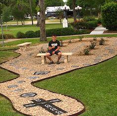 Rosary walk meditation gardens rosary walks for Rosary garden designs