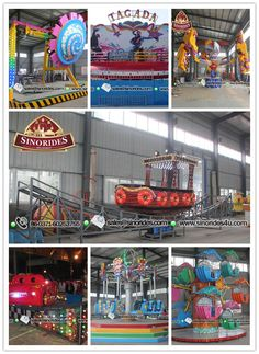 The most popular amusement park rides in SINORIDES in Sep. 2014 for your reference. Kids rides, family rides, thrill rides for sale Rocking Tug rides, Double ferris wheel rides for kids, Energy storm rides, Airborne shot rides, Frog hopper rides, Kids track train rides, Mini flying car rides, etc.