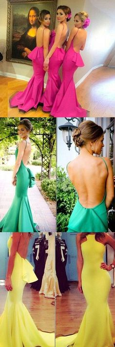 On Sale Beautiful Sexy Backless Mermaid Young Girls Rose Red Long Bridesmaid Dresses with Small Train, The short bridesmaid dresses are fully lined, 4 bones in the bodice, chest pad in the bust, Pretty Prom Dresses, Beautiful Bridesmaid Dresses, Prom Dresses For Teens, Prom Dresses 2018, Long Prom Gowns, Prom Dresses Online, Cheap Prom Dresses, Evening Dresses, Party Dresses