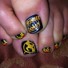 Just got my toes done for the Hunger Games!!