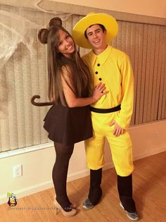 Man in the Yellow Hat and Curious George Couple Costume  sc 1 st  Pinterest & 20 Hilarious Couples Costume Ideas | Halloween | Pinterest | Diy ...