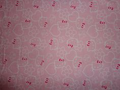 Hello Kitty Pastel Pink Flowered Flannel by the Half Yard by DDDesighns on Etsy https://www.etsy.com/listing/220744915/hello-kitty-pastel-pink-flowered-flannel