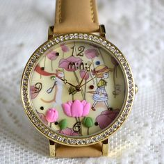 MINI hodinky - Mezi tulipány