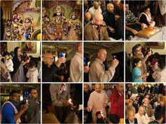 FINAL DAY OF OFFERING A CANDLE OR GHEE LAMP TO LORD DAMODARA AT BHAKTIVEDANTA…