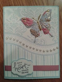 Happy Birthday Greeting Card New Birthday Heart With Wings Butterfly Ornate