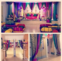 Colorful fabric Backdrop for an Indian wedding event