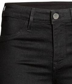 Skinny Regular Ankle Jeans   Black denim   LADIES   H&M SA