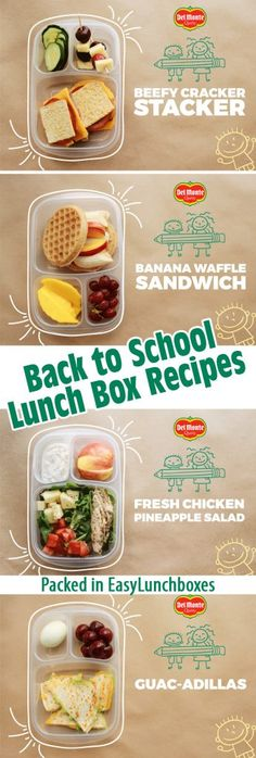 5 Easy Back to School Lunch Box Recipes from Del Monte…