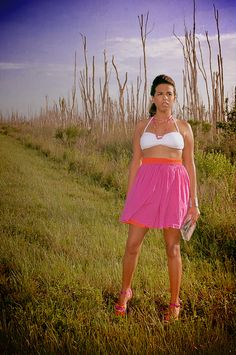 Fashion shoot in the Florida Everglades.