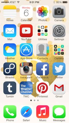 hello!today I thought I would share some of my favorite iphone apps today!first I'll give you a quick tour of my phone!this is the opening page with all of my most used apps at the fron…