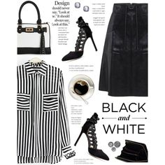 B&W Style - Yoins by yexyka on Polyvore featuring moda, IMoshion, yoins and yoinscollection