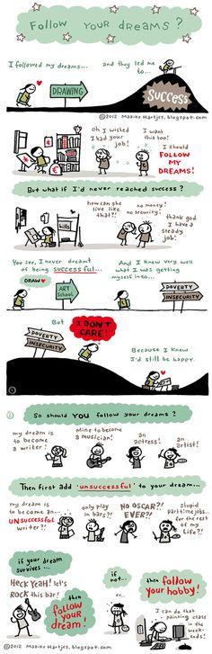 Follow your dreams... or not?   Comic by Maaike Hartjes