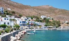 Tilos, Greece: the first island in the Med to run entirely on wind and solar power Livadia harbour on the Greek island of Tilos. Greek Island Tours, Greek Island Holidays, Greek Islands To Visit, Renewable Energy, Solar Energy, Solar Power, Places Worth Visiting, Sustainable Tourism, Greece Travel