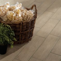 Check out this American Olean product: Photo features Terreno 6 x 24 in Smokewood in a random staggered pattern.