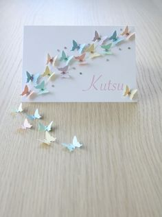 DIY: Kutsukortti (perhoset) / Invitation with butterflies