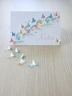 DIY: Kutsukortti (perhoset) / Invitation with butterflies