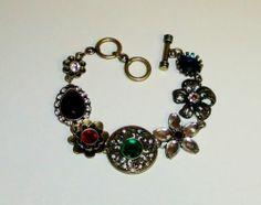 439 New Without Tags Signed Sumni Antiqued Goldtone Charm Link Bracelet   eBay