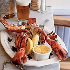 Split Grilled Lobsters with Herb Butter - 13 Delicious Lobster Recipes - Coastal Living Mobile Fish Dishes, Seafood Dishes, Seafood Recipes, Fish Recipes, Grilled Seafood, Fish And Seafood, Grilled Lobster Recipes, Grilled Chicken, How To Cook Lobster