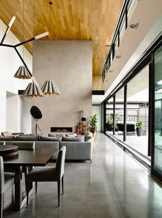polished concrete floors for a large open plan living space Pula, Belle Magazine, Melbourne Suburbs, Richard Neutra, Concrete Floors, Concrete Stone, Living Area, Flooring, Contemporary