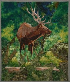 """""""Majesty"""" art quilt, pieced, by Ruth Powers"""