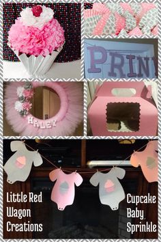 Cupcake Baby Sprinkle / Baby Shower Created by Becky Davino of Little Red Wagon Creations. https://www.facebook.com/MemoryNeverEndingShop