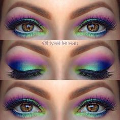 10 Festival Eye Makeup Ideas – More 10 Festival Eye Makeup Ideas – More,Make Up: Eyes If you're off to a summer festival, light up the party with these Northern Lights eyes. Pretty Makeup, Love Makeup, Makeup Inspo, Makeup Inspiration, Makeup Tips, Makeup Looks, Hair Makeup, Makeup Ideas, Makeup Geek