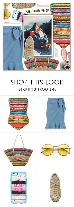 """Quisiera, CNCO"" by blendasantos ❤ liked on Polyvore featuring Lenny, Diane Von Furstenberg, Flora Bella, Wildfox, Casetify, Anja and Maison Margiela"