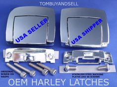 #harley OEM for HARLEY DAVIDSON TOUR PACK LATCHES CLASSIC ELECTRA GLIDE ULTRA PAK PAC please retweet