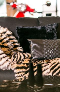 Fendi Casa decoration, leather and furr pillows, Luxury Living Group #deco…