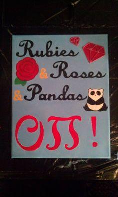 Rubies and roses and pandas O PI!