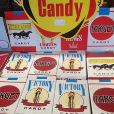 Candy Cigarettes, I was so cool back then with these. Yep, the coolest 8 yr old with a cig hanging off my lip...LOL.  The good ol days hee hee.