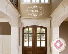 Family Last Name Monogram Wall Decal with by openheartcreations, $30.00