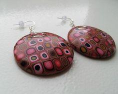 Polymer clay earrings KatikaZ / retro-kruh velky http://www.sashe.sk/KatikaZ http://www.fler.cz/katikaz https://www.facebook.com/pages/Katika-Handmade-jewelry/611752618918894?ref=hl