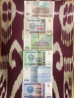 1,000; 5,000 and 10,000 so'm banknote from Uzbekistan #uzbeksom #uzbekmoney Car Cost, Bus Ride, Banknote, Small Cars, Almost Always, Coins, Money, Blog, Miniature Cars
