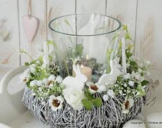 Your place to buy and sell all things handmade Cute Easter Pictures, Diy Osterschmuck, Easter Flower Arrangements, Easter Table Decorations, Deco Wreaths, Easter Wreaths, Easter Crafts, Handmade, Rabbits