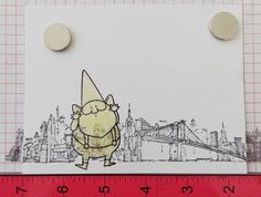 Stamping over masking fluid to create a card background