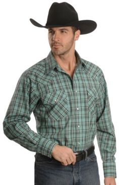 762f9fb50f4 Wrangler Snap Plaid Western Shirt available at  Sheplers  24.99n Party  Looks