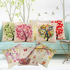 Hot Selling Fashion Square Linen Throw Pillow Case Cushion Cover Home Sofa Decoration BI8G #Affiliate