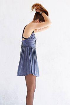 Kimchi Blue Knit Raw-Pleat Skater Dress