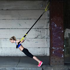 Try these TRX exercises that top trainers say are their favorite. These experts show you how to do their favorite moves that will sculpt and tone your body. Get fit and in shape with these fat-burning exercises. Fitness Workouts, Easy Workouts, Fitness Tips, Trx Workouts For Women, Workout Routines, Workout Ideas, Weight Lifting, Weight Loss, Lose Weight