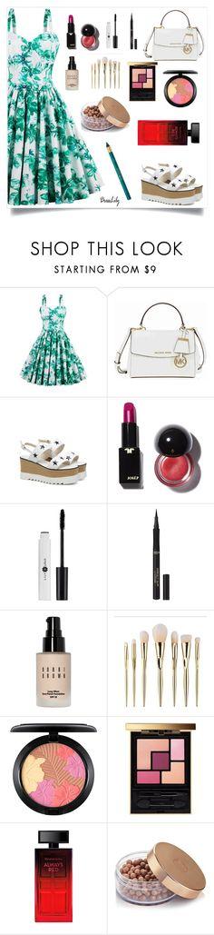 """contest dresslily."" by lela-mv ❤ liked on Polyvore featuring Michael Kors, L'Oréal Paris, Bobbi Brown Cosmetics, MAC Cosmetics, Yves Saint Laurent and Elizabeth Arden"