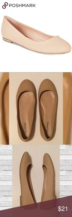 Nude Flats w/ Gold Plated Heel w/box - worn once! Call It Spring - Nude Flats with Gold Plated Heel with box - worn once! These fit more like a size 7 3/4, so if your a true 8 they'll be tight like they were for me, but if your between sizes then these are great! Call It Spring Shoes Flats & Loafers