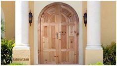 orientalische Massiv Holz Haus Tür handgeschnitzt aus Afghanistan unbehandelt