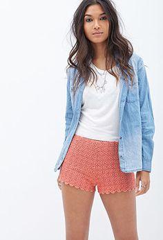 Crochet Dot Shorts | FOREVER21 - 2000057744