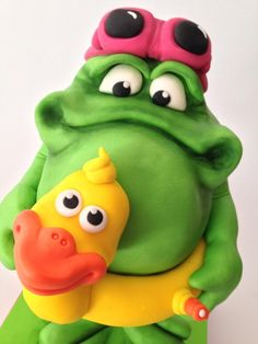 """""""Froggy waiting for summer"""" cake - Cake by Puckycakes"""