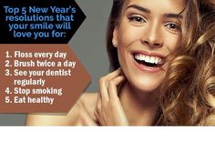 Are any of these on your list? Tell us about your #NewYearResolutions! #dentistfremont #brushyourteeth
