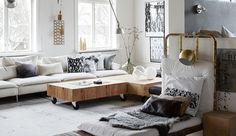 Thuis in de loft van een Zweedse designer